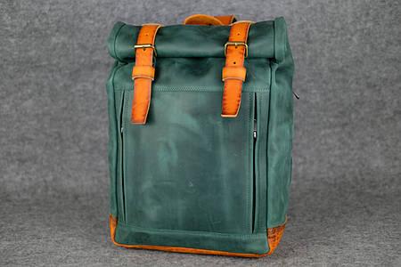 Мужской рюкзак HANKLE H7 |13243| Зеленый+Янтарь