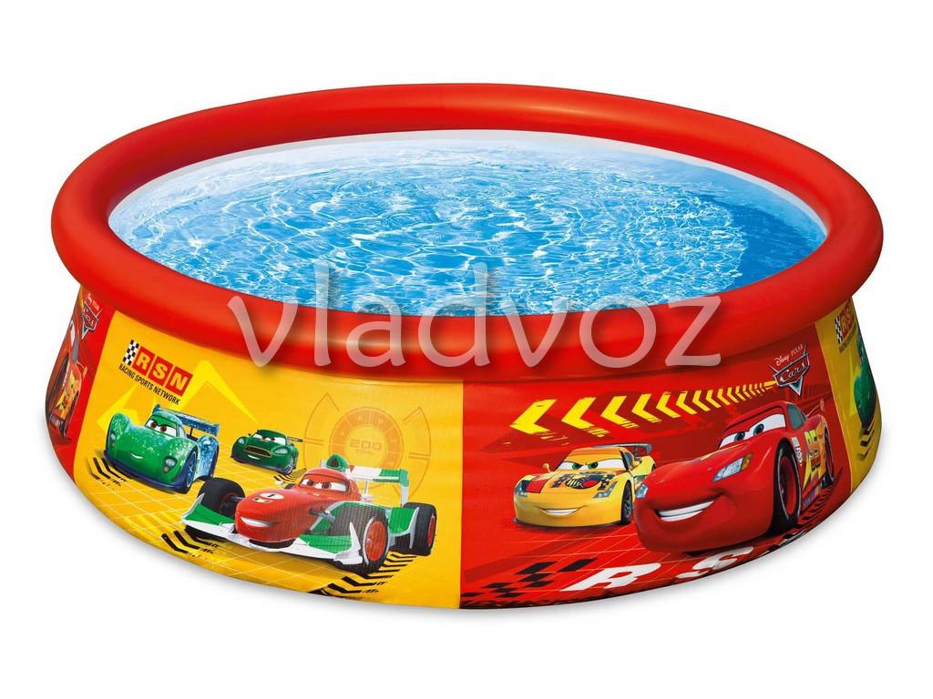 Детский семейный наливной бассейн Intex тачки 28103 183*51 см.
