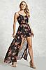 Шифоновый летний комбинизон, ромпер с шортами Forever21 цветочный принт