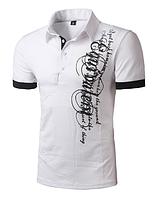 Белая футболка с графическим принтом M  код 54, фото 1