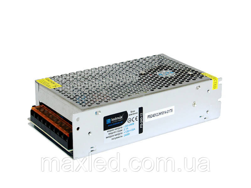 БП 12В 240Вт LEDMAX PS-240-12