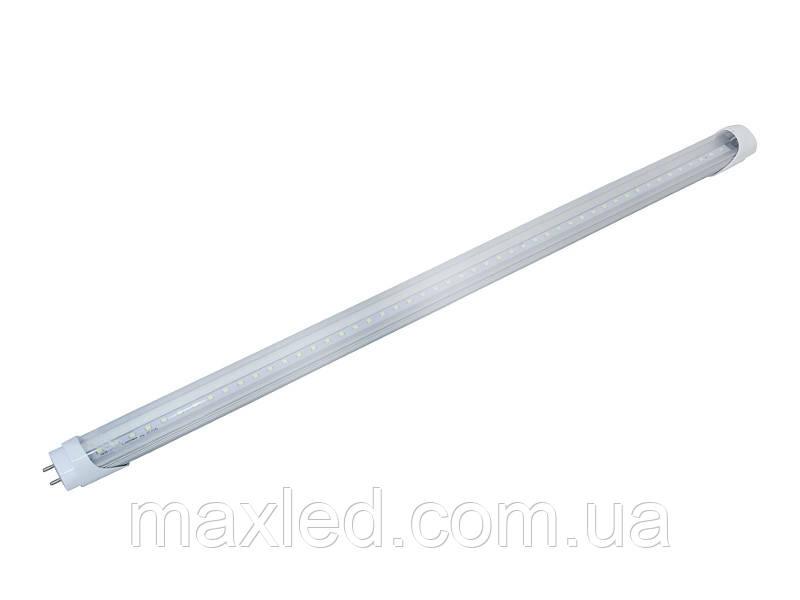 Лампа светодиодная  9Вт CW  прозрачная T8-2835-0.6S 9CW 6500К