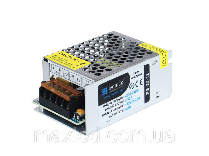 БП 12В  35Вт LEDMAX PS-35-12