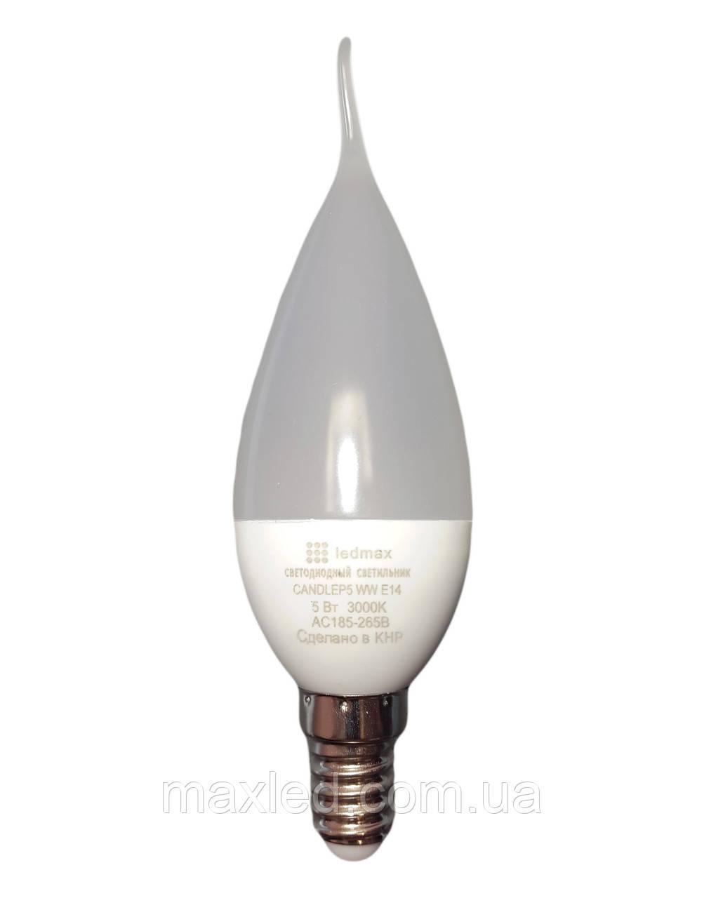 Светодиодная лампа LEDMAX CANDLEP5 WW Е14 220В