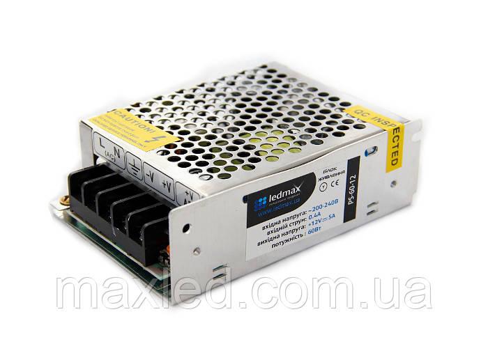 БП 12В  60Вт LEDMAX PS-60-12