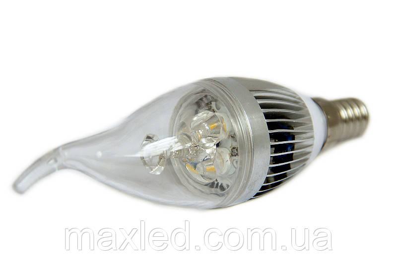 Светодиодная лампа LEDMAX CANDLE 3X1 CW Е14 220В