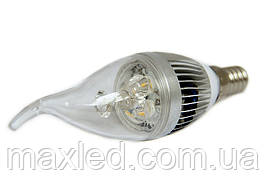 Світлодіодна лампа LEDMAX CANDLE 3X1 CW Е14 220В