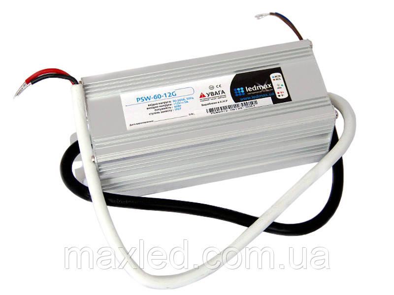 БП 12В  60Вт LEDMAX PSW-60-12G