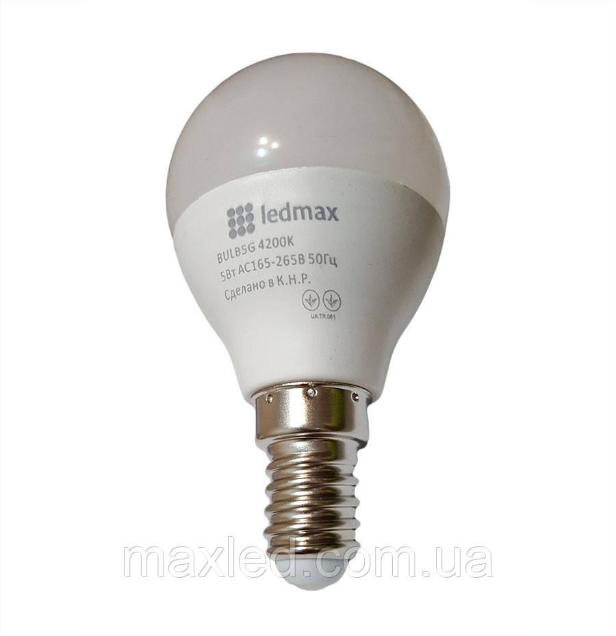 Світлодіодна лампа 5Вт BULB5G 4200K Е14