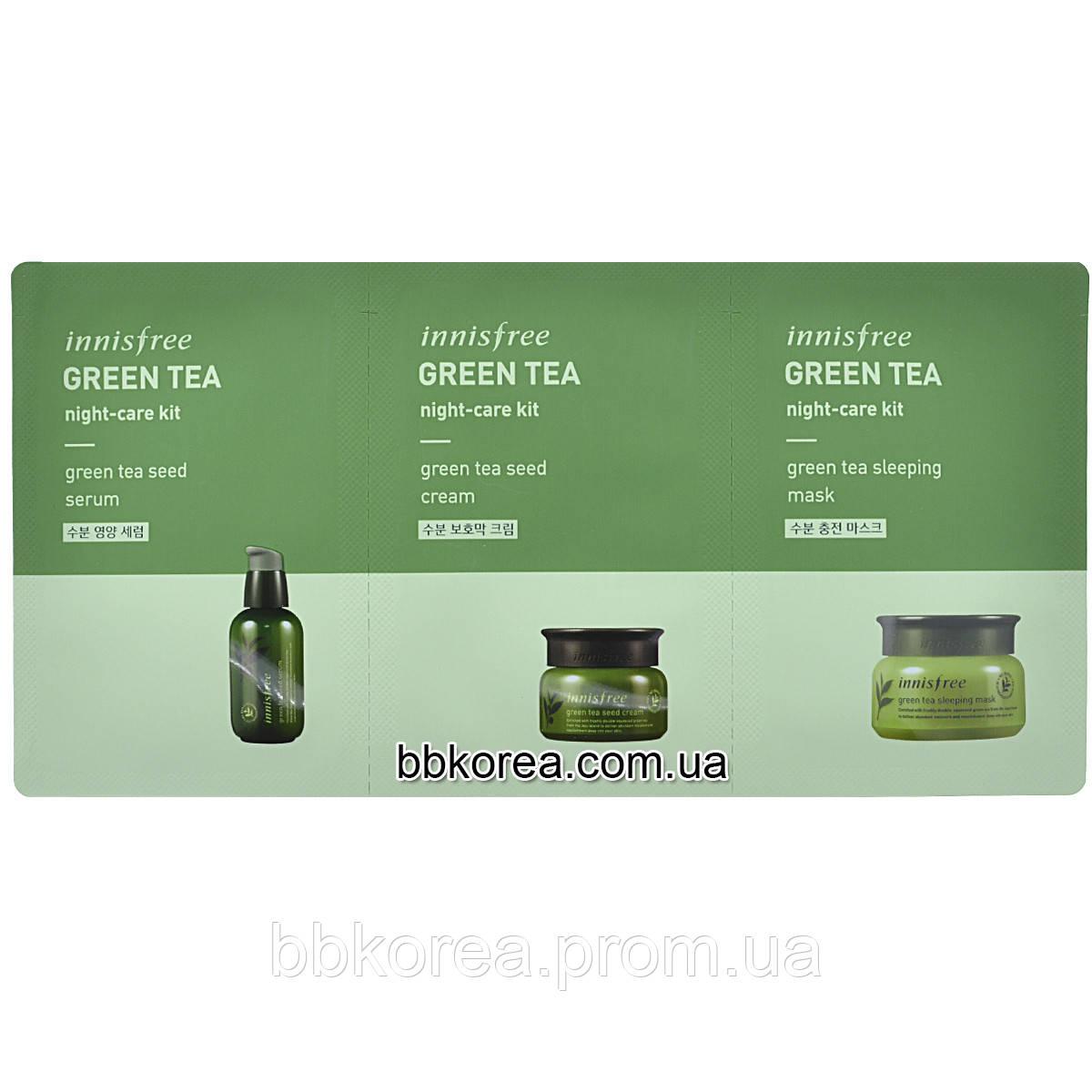 Innisfree Green Tea Night Care Kit 2291 Sleeping Pack Bbkorea