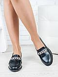 Туфли лоферы Цепи кожа 6399-28, фото 2