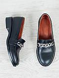 Туфли лоферы Цепи кожа 6399-28, фото 6