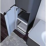 Пенал подвесной для ванной комнаты Botticelli Velluto VltP-170 белый, 330х350х1700 мм , фото 3