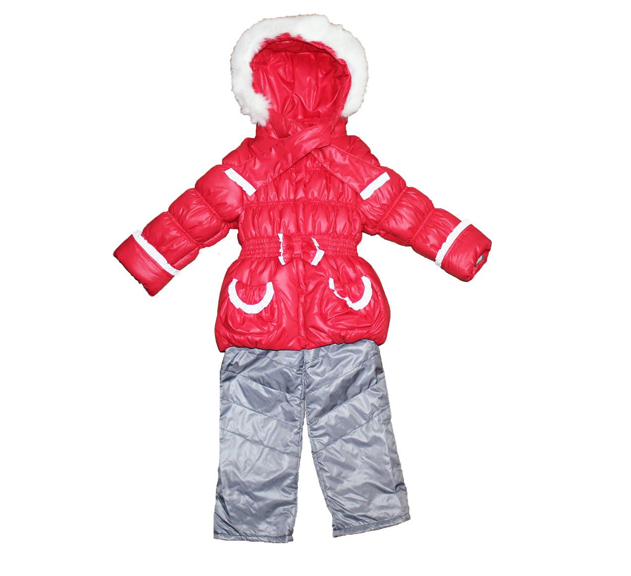 Костюм комбинезон + куртка на меху для девочки. Маришка