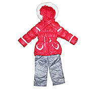 Костюм комбинезон + куртка на меху для девочки. Маришка, фото 1