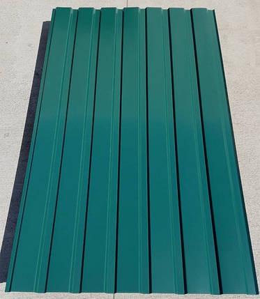 Профнастил зеленый ПС-15, 0,35 мм; высота 1.5 метра ширина 1,16 м, фото 2