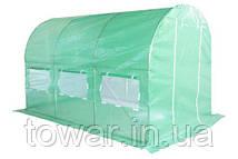 Садовая теплица оранжерея тоннель из фольги 200 х 350 см (7 м2) зеленый