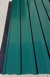 Профнастил  для забора зеленый ПС-20, 0,30 мм; высота 1.75 метра ширина 1,16 м
