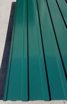 Профнастил  для забора зеленый ПС-20, 0,30 мм; высота 1.75 метра ширина 1,16 м, фото 2
