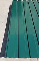 Профнастил  для забора зеленый ПС-20, 0,30 мм; высота 1.75 метра ширина 1,16 м, фото 3
