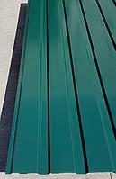 Профнастил зеленый ПС-15, 0,35 мм; высота 2 метра ширина 1,16 м