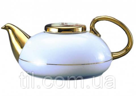 FAMILY TEA POT 800ml Фарфоровый Чайник Семейный полузолотой