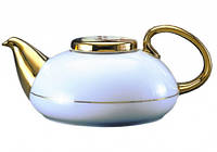 FAMILY TEA POT 800ml Фарфоровый Чайник Семейный полузолотой, фото 1
