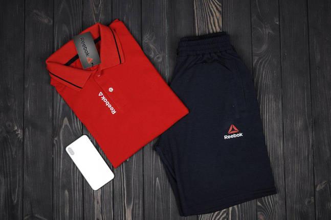 Комплект футболка поло и шорты Reebok , фото 2