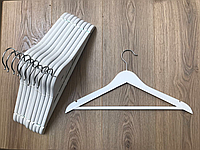 Вешалки плечики деревянные тремпеля белые (3шт)