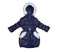 Пальто детское  на меху для девочки. Рукавичка, фото 1
