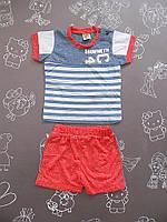 Детский летний костюм для мальчика на 6-18 месяцев