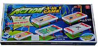 Детская настольная игра 4 в 1 Action Game 628-19, фото 1