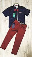 Стильный костюм для мальчика: рубашка с коротким рукавом и брюки, фото 1