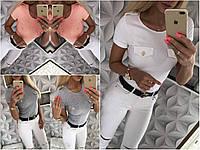 Женская футболка с карманы обманки СЦ28885