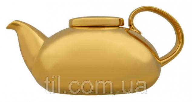 FAMILY TEA POT GOLD (800ml) Чайник Семейный Фарфоровый