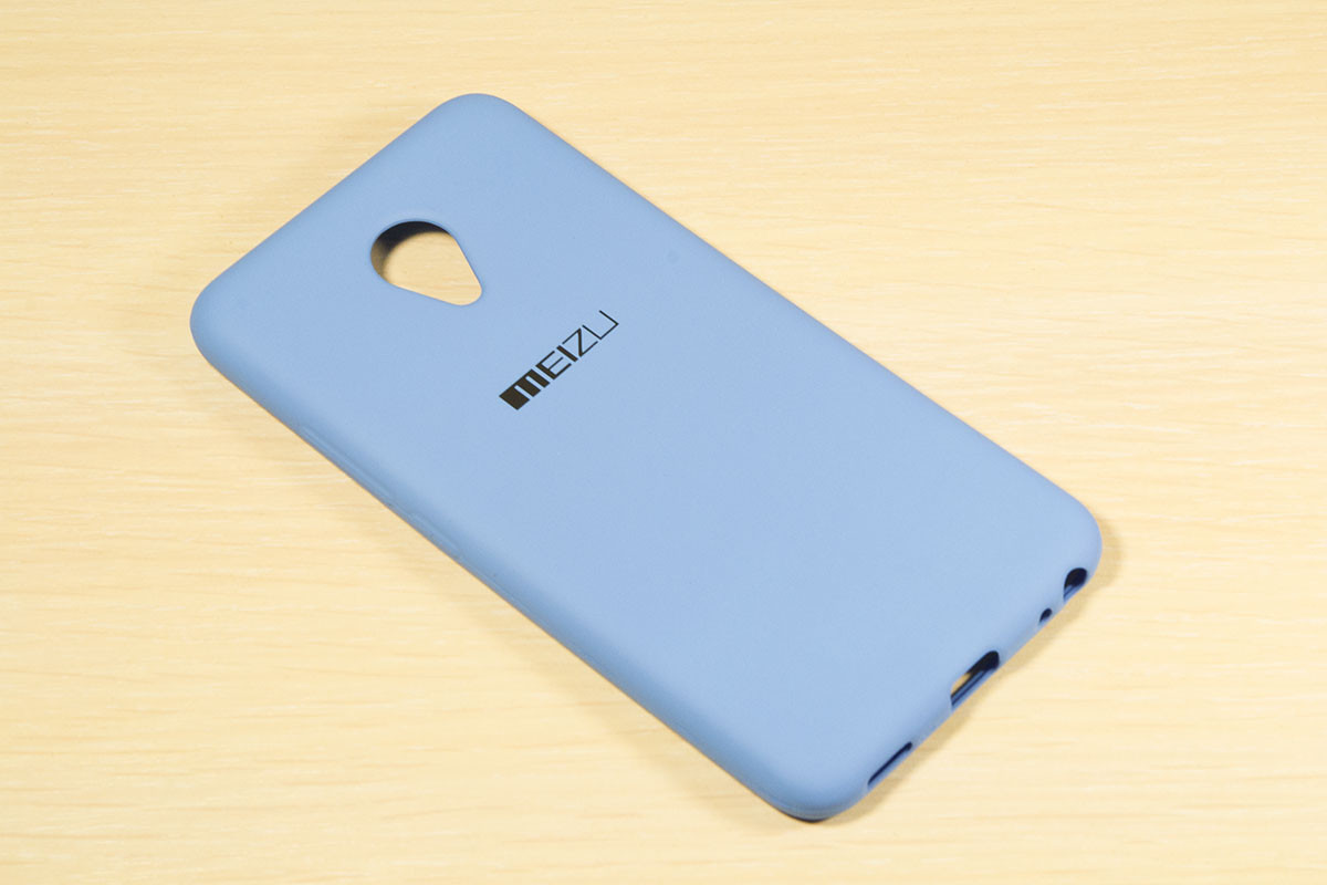 Силиконовый чехол с логотипом для Meizu M5