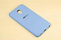 Силиконовый чехол с логотипом для Meizu M5, фото 1