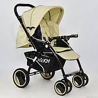 Детская прогулочная коляска-книжка JOY Т-100 бежевая  ***