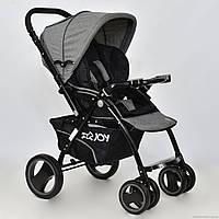 Детская прогулочная коляска-книжка JOY Т-100 серая ***