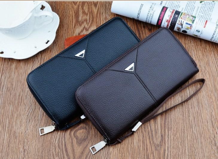 Мужской кошелек с пряжкой ( портмоне бумажник )