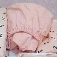 Простинь на резинці  в кругле ліжечко 60*60 см, фото 1