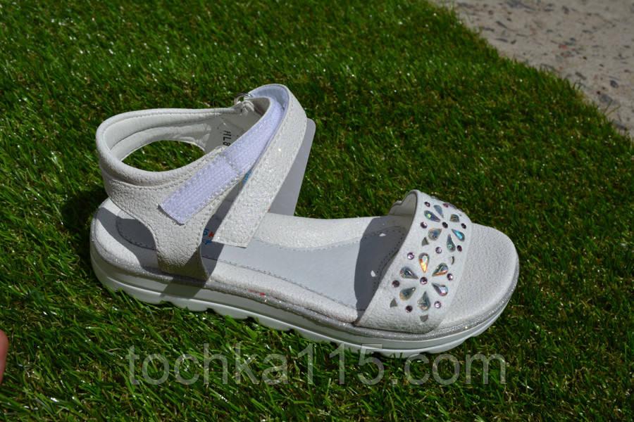 Детские босоножки сандали на девочку белые, фото 1