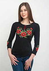 Річна жіноча вишита футболка з коротким рукавом