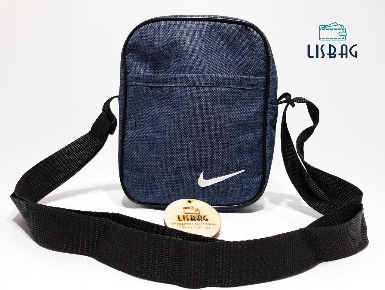 09db26ed1819 ... Мужская сумка планшетка/мессенджер через плечо Nike копия, Синяя, фото 4  ...