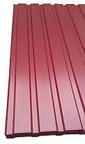 Профнастил для забору, колір: Вишня ПС-20, 0,30 мм; висота 2 метри ширина 1,16 м, фото 3