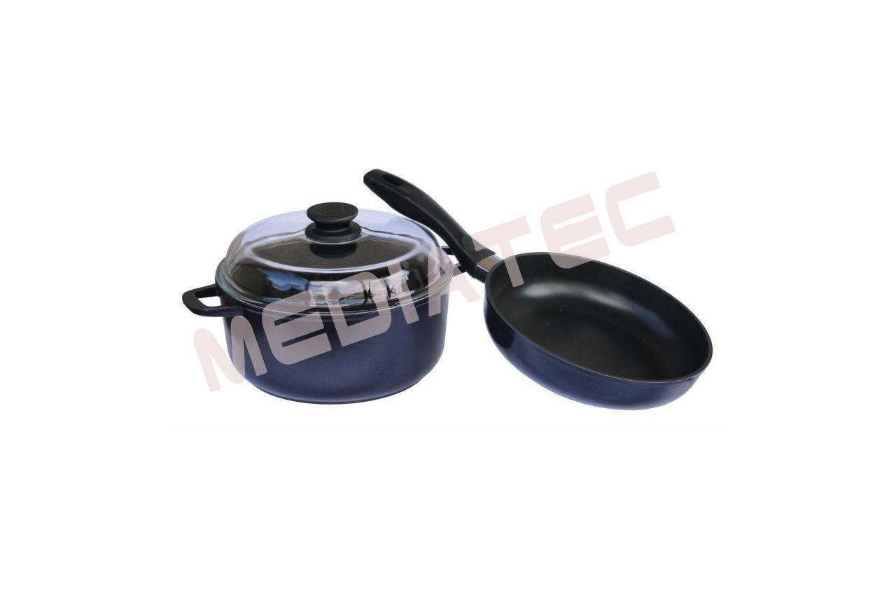 Набор посуды антипригарный Биол - сковорода 240 мм + кастрюля 4 л