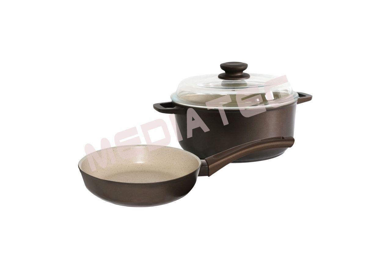 Набор посуды антипригарный Биол - сковорода 260 мм + кастрюля 5 л