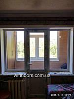 """Установлен балконный блок с откосами. Мы используем откосную систему """"Qunell"""" Белорусского производства. Откосы """"Qunell"""" - это практично, надежно и эстетично!"""