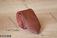 """Галстук мужской однотонный узкий (5,5 см, светло-коричневый) Lan Franko """"Remen"""" LM-638"""