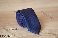 "Галстук мужской однотонный узкий (5,5 см, темно-синий) Lan Franko ""Remen"" LM-638"